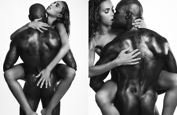 The super model Tyson Beckford & Inès Rau