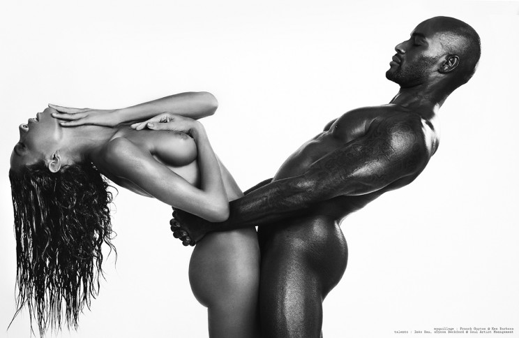 "The super model Tyson Beckford & Inès Rau - ""On my skin"" by Rodolfo Martinez"