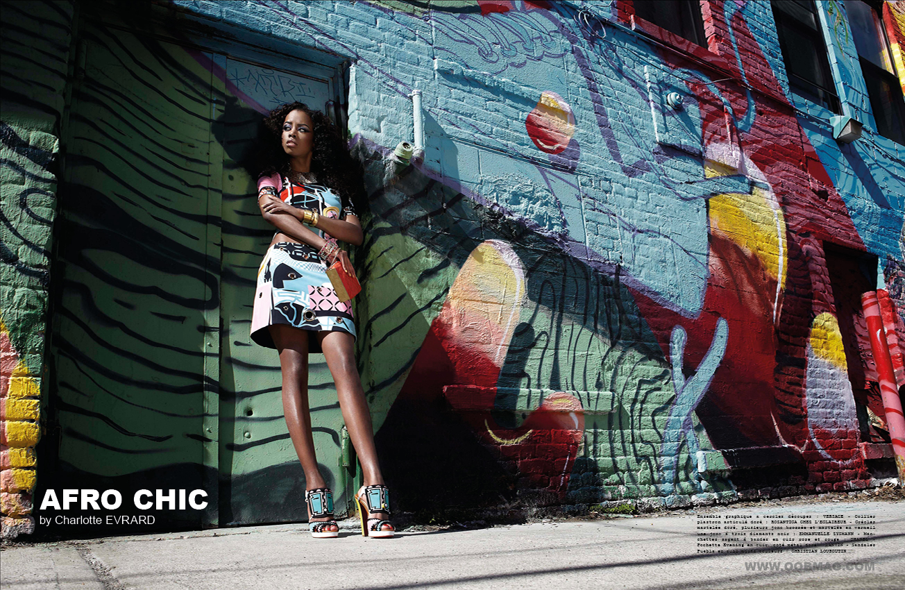 afro chic by charlotte evrard magazine oobmag. Black Bedroom Furniture Sets. Home Design Ideas